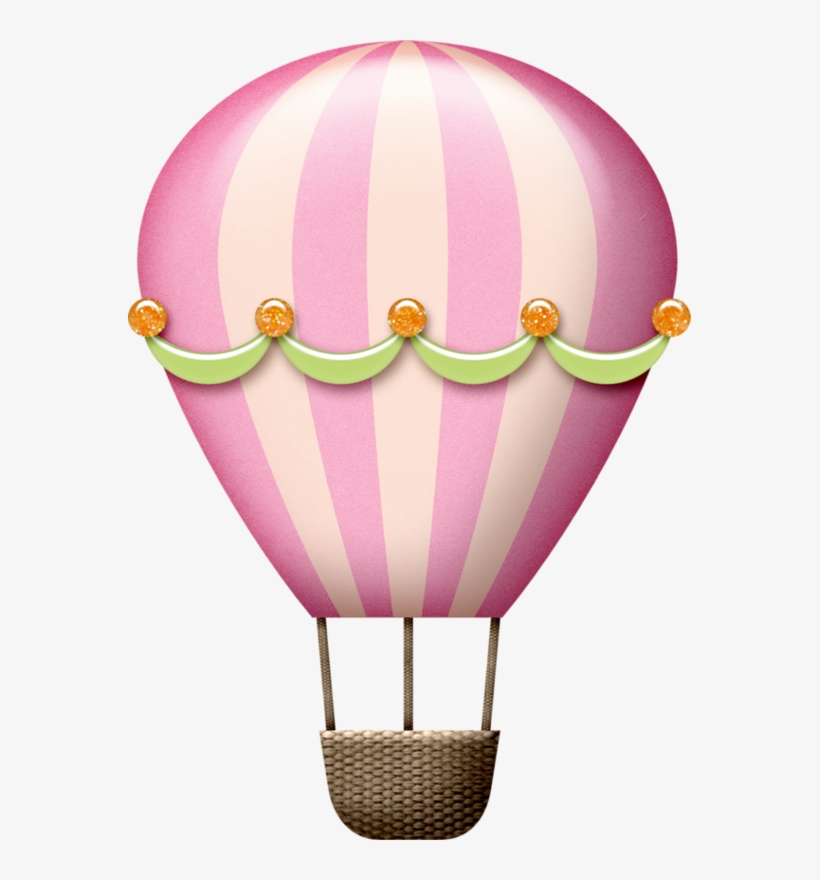 Tborges Happypeople Png Pinterest - Hot Air Balloon Clipart Baby Pink, transparent png #1188375