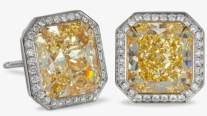 Yellow Diamond Stud Earrings - Kays Yellow Diamond Earrings, transparent png #1189165