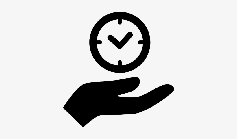 Hand Holding Up A Clock Vector - Hand Holding A Clock, transparent png #1190397