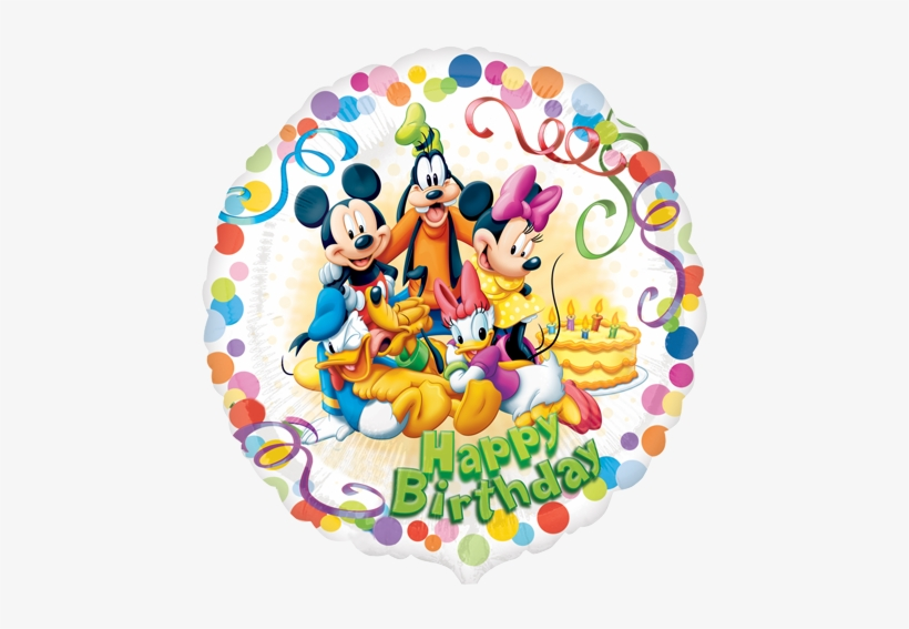 Happy Birthday Mickey Mouse Balloons Free Transparent Png Download
