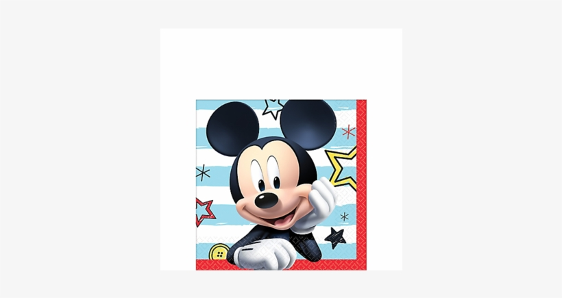 "Mickey On The Go Birthday Beverage Napkins, 5"" - Mickey Mouse 18 Balloon, transparent png #1191037"