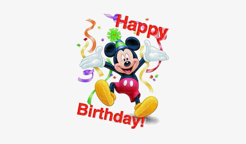 Mickey Mouse Birthday Png 1 Happy Birthday Mickey Mouse, - Happy Birthday Images For Kids, transparent png #1191203
