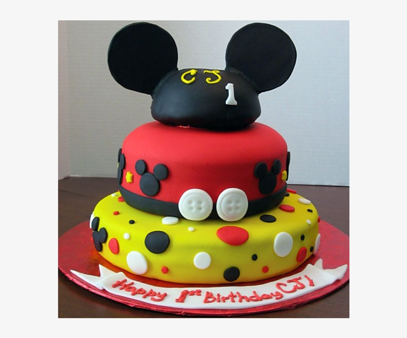 Super Mickey Mouse 1St Birthday Png Download Cake Free Transparent Personalised Birthday Cards Bromeletsinfo