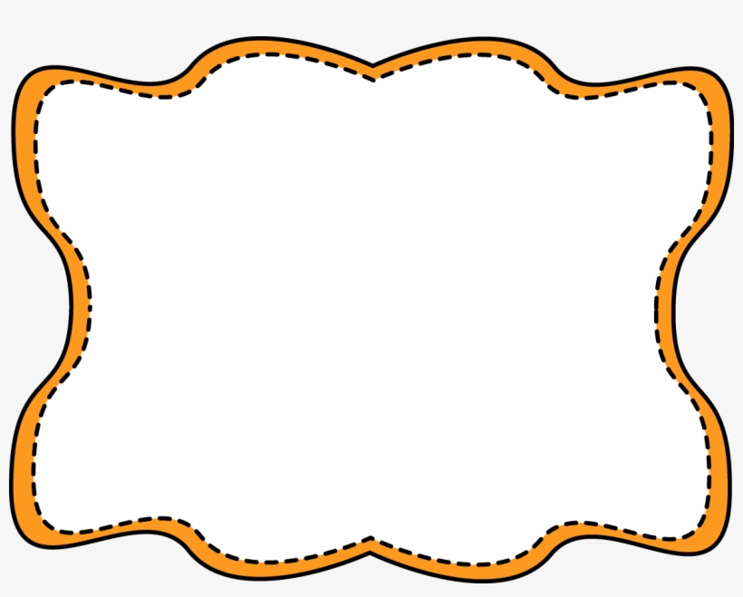 Orange Wavy Stitched Frame Free Clip Art - Gold Glitter Frame Png, transparent png #1192866