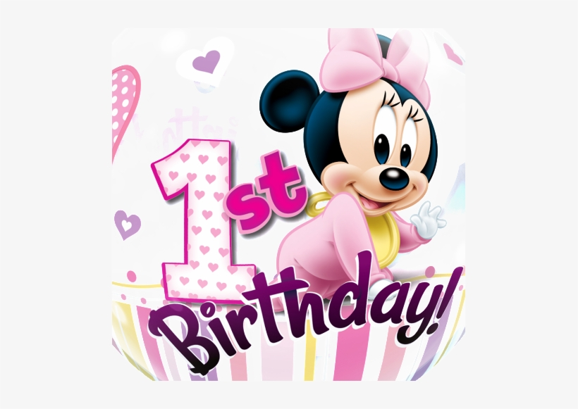 Minnie mouse birthday. Free baby st clipart