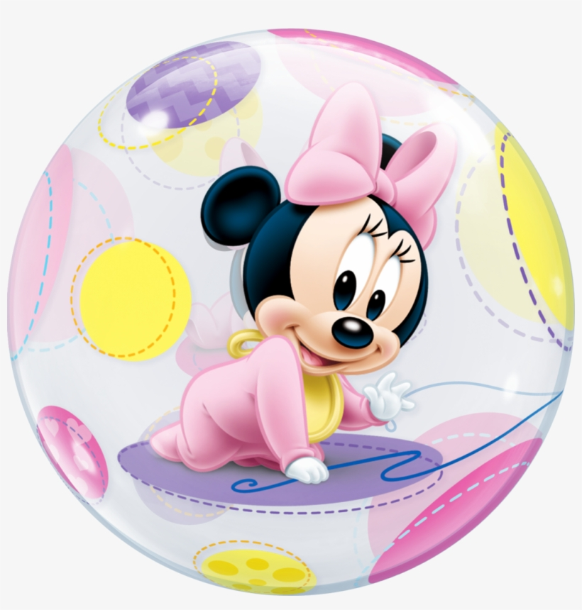 Disney Baby Minnie Mouse Bubble Balloon - Baby Minnie Mouse Png, transparent png #1193070