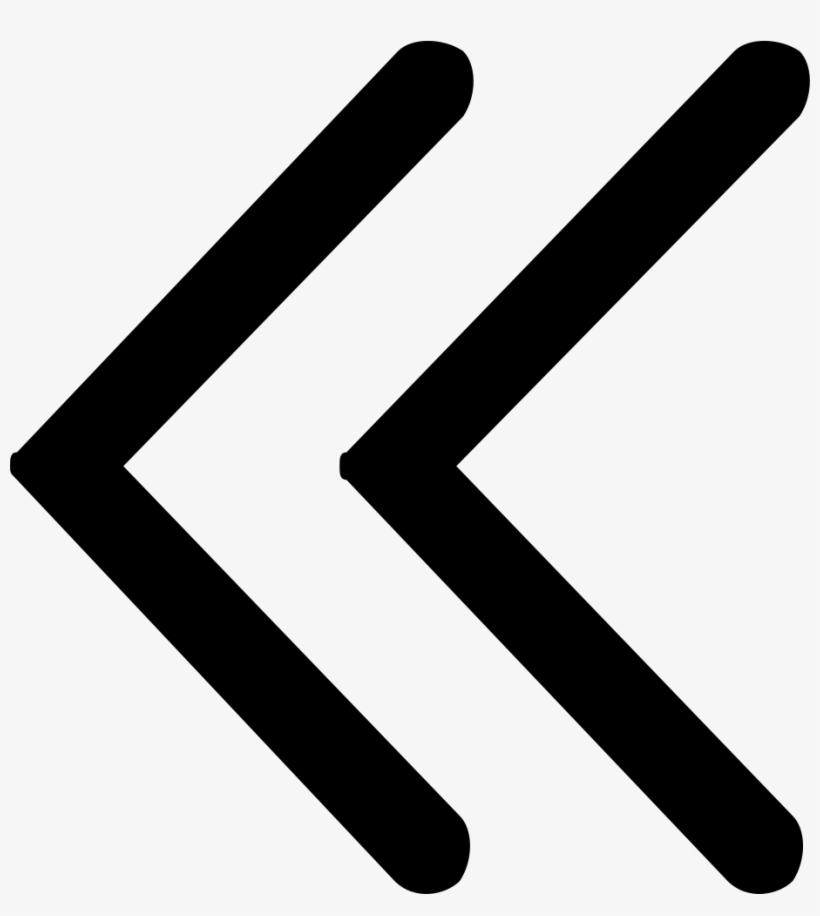 Double Left Arrow - Left Arrow Png, transparent png #1193093