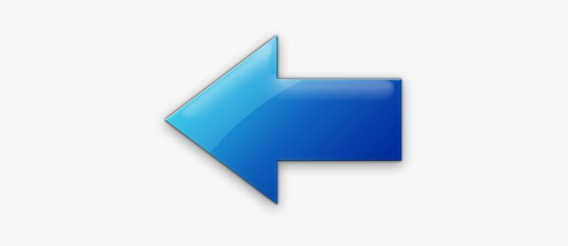 Big Left Arrow Icon - Blue Left Arrow Icon, transparent png #1193204