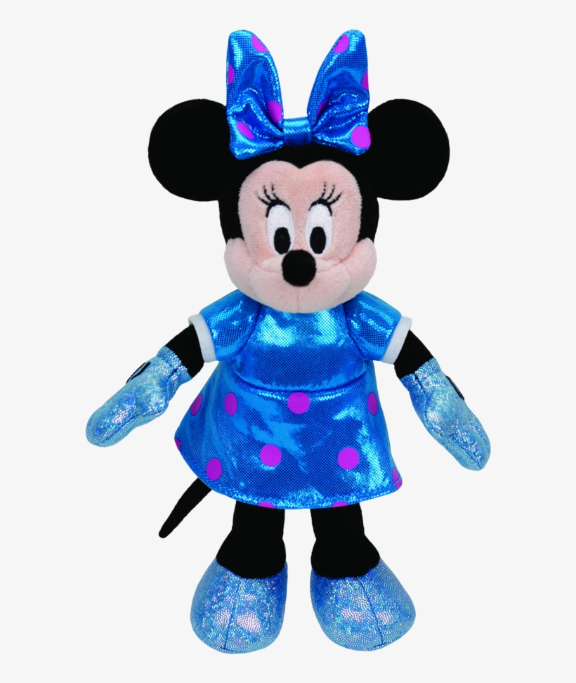 Minnie Mouse Sparkle Beanie Babies - Ty Sparkle Minnie Mouse Teal Sparkle With Sound, transparent png #1193503