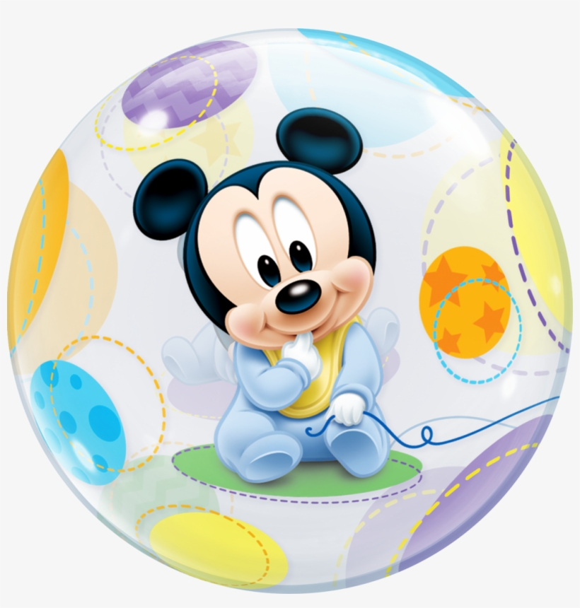 Disney Baby Mickey Mouse Bubble Balloon - Baby Mickey Mouse Balloons, transparent png #1193654