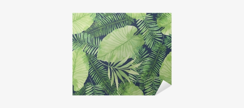 Tropical Seamless Pattern With Leaves - Tropical Seamless Pattern, transparent png #1194455