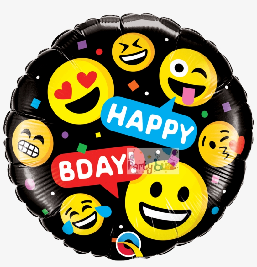 Emoji Funny Faces Foil Birthday Balloon - Duck Dynasty Happy Birthday Boss Foil Balloon, transparent png #1194661