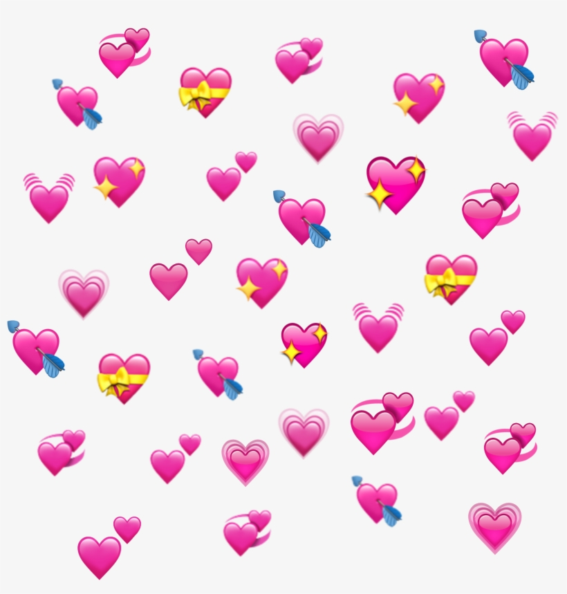Hearts Heart Emoji Emojis Heartemoji Edit Edits - Rotierende Herzen - Emoji Klemmbrett, transparent png #1194860