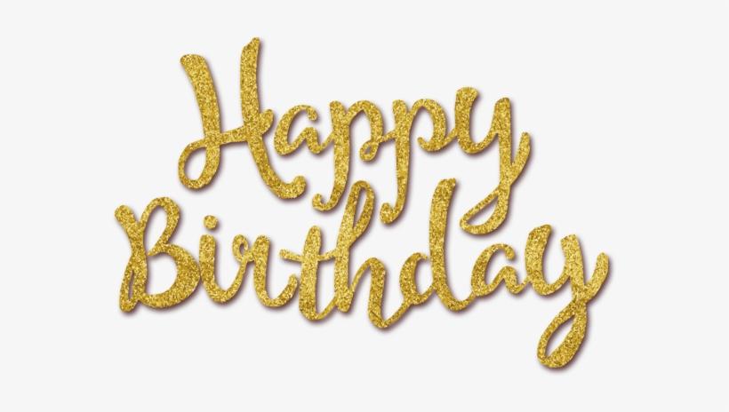 Golden Happy Birthday Clipart - Happy Birthday No Background - Free