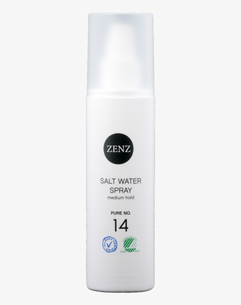 14 Pure Salt Water Spray For All Hair Type Zenz Organic - Zenz Organic Salt Water Spray Pure No 14 - 200ml, transparent png #1198207