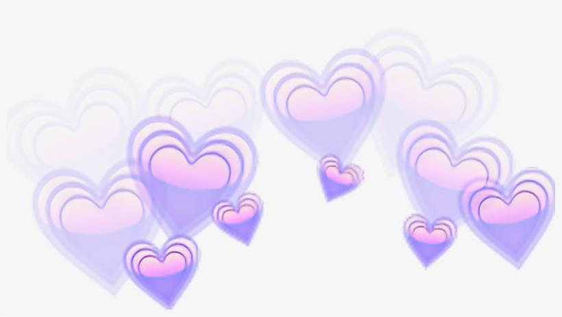 Corona De Corazones Png - Galaxy Love Heart Emoji, transparent png #1198472