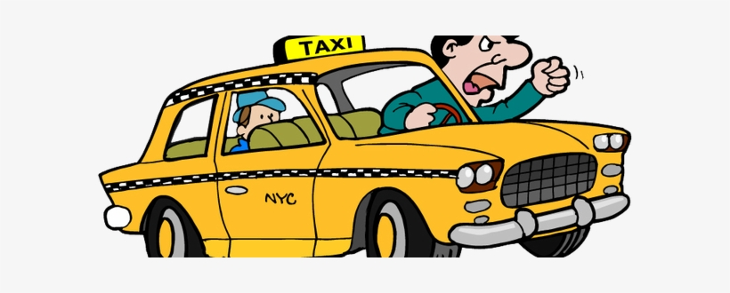 Vector Clipart of New York yellow taxi cab. Vector ... |Yellow Taxi Cab Drawing