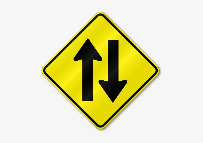 Both Ways Road Sign, transparent png #1199117