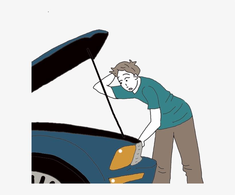 Broken Car Png Cartoon Clipart Car - Broken Race Car Clipart, transparent png #1199402