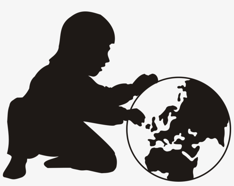 Child World Map Globus Earth A Childs World Europe - World Day Against Child Labour 12 June 2018, transparent png #1199799