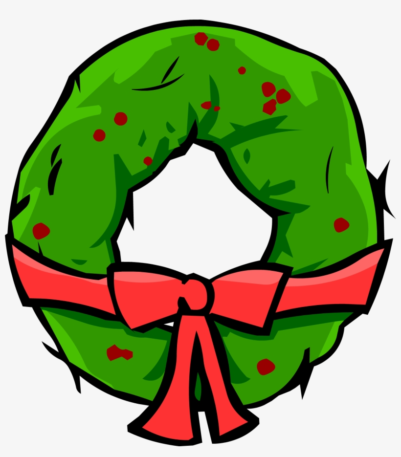 Christmas Wreath - Png - Club Penguin Christmas Furniture, transparent png #120867