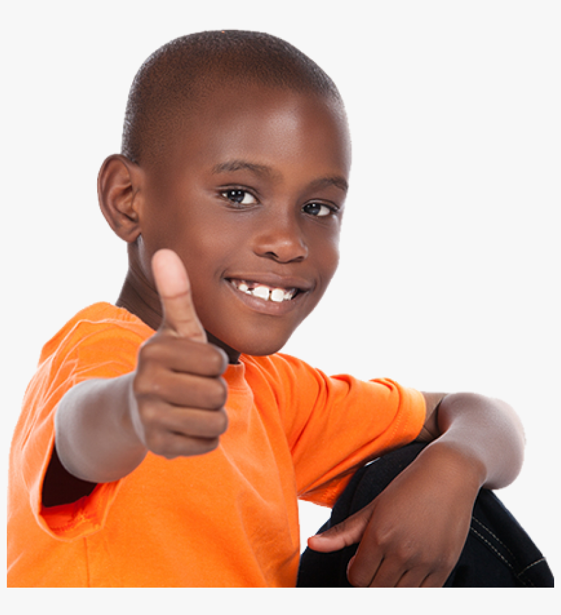 Black Kid Thumbs Up Png Image - Black Kid Png, transparent png #121076