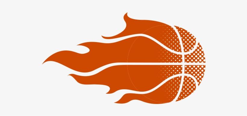 Basketball Logo Sport - Fire Basketball Vector Art, transparent png #121924