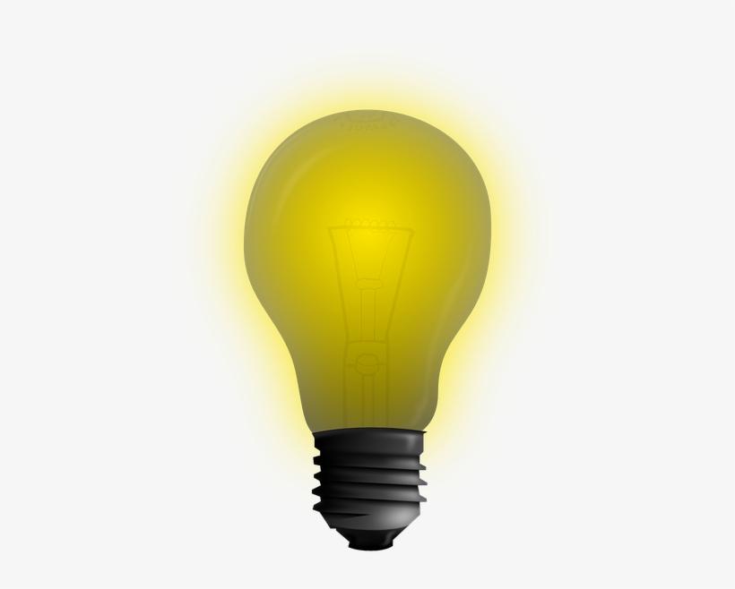 Clip Art At Clker Com Vector Online - Incandescent Light Bulb, transparent png #122234