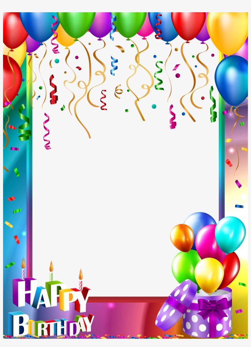 Happy Birthday Png Transparent Frame Gallery Yopriceville - Happy Birthday Png Transparent, transparent png #122279