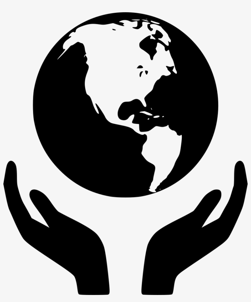 World Hand Svg Png Icon Free Download - Hands Holding The World, transparent png #122729