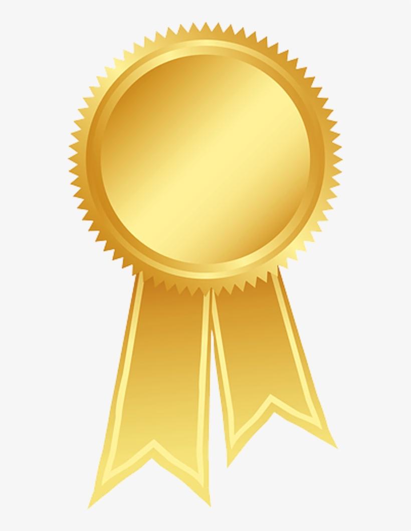 Gold Ribbon Clip Art - Award Gold Ribbon Png - Free ...