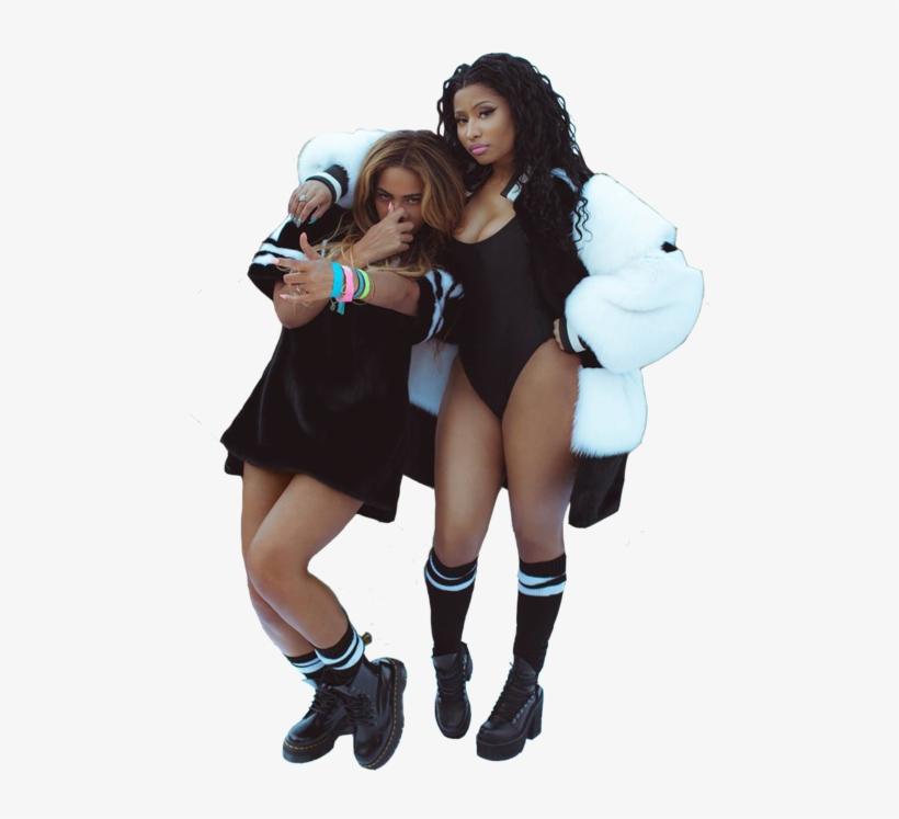 Picture Freeuse Via On We Heart It Beyonc Nicki - Beyonce Et Nicki Minaj, transparent png #123571