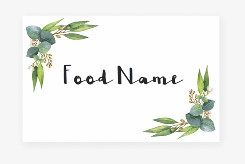 Greenery Baby Shower Food Cards Printable By Littlesizzle - Baby Shower, transparent png #123701