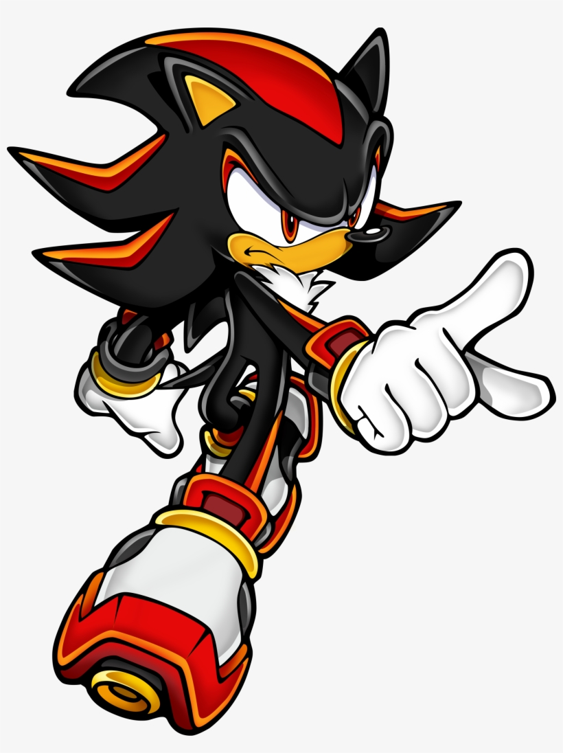 Sonic Hedgehog Red White Sonic The Hedgehog Black Free Transparent Png Download Pngkey