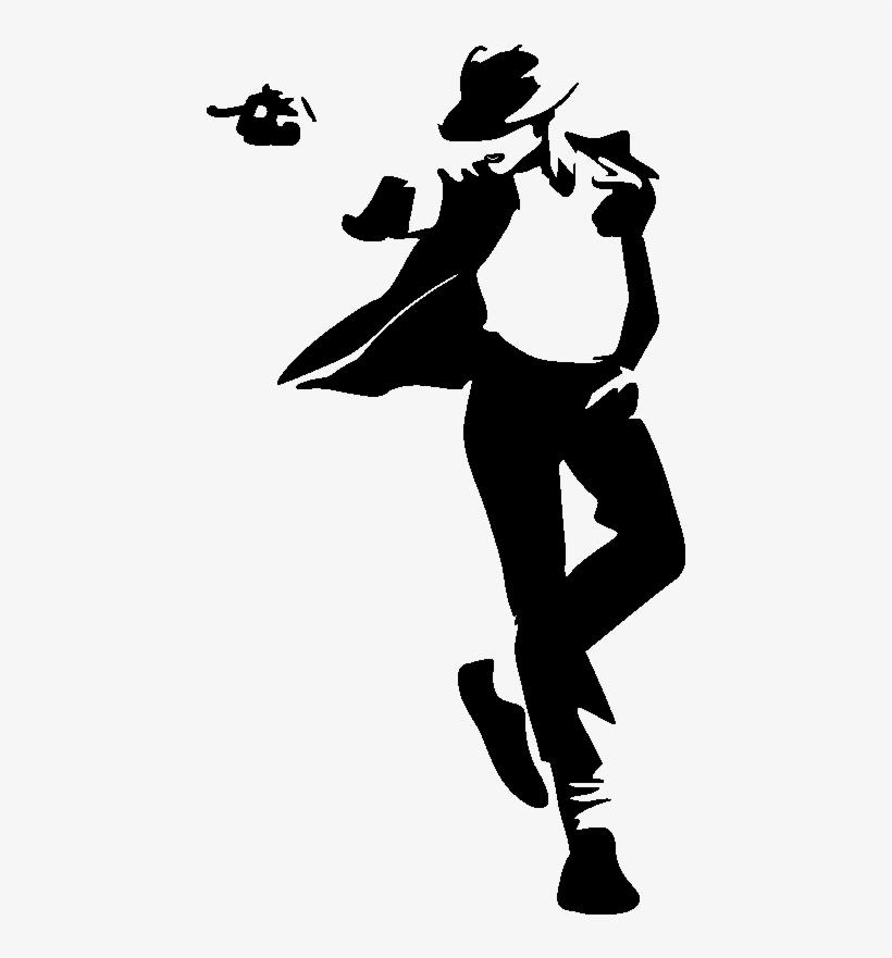 Mikel Jackson, Michael Jackson Silhouette, Stencil - Stickers Muraux Michael Jackson, transparent png #124206