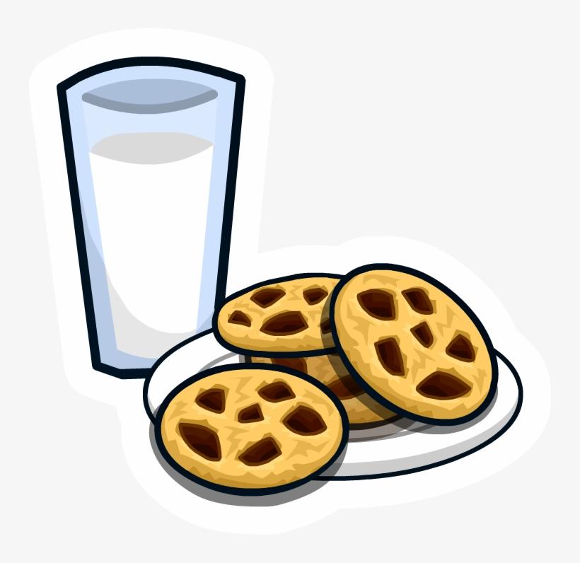 Milk 'n Cookies Pin - Milk And Cookies Png, transparent png #124585