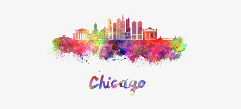 Chicago Transparent Watercolor Banner Free Library - Pune City Clipart, transparent png #125121
