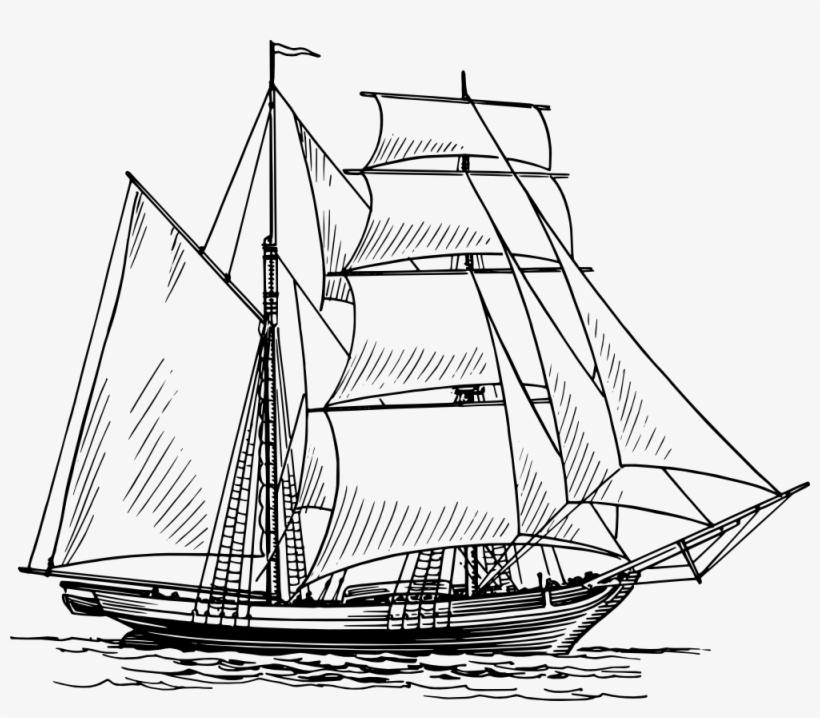 Drawing Sailboat Sailing Ship - Boat Drawing, transparent png #125421