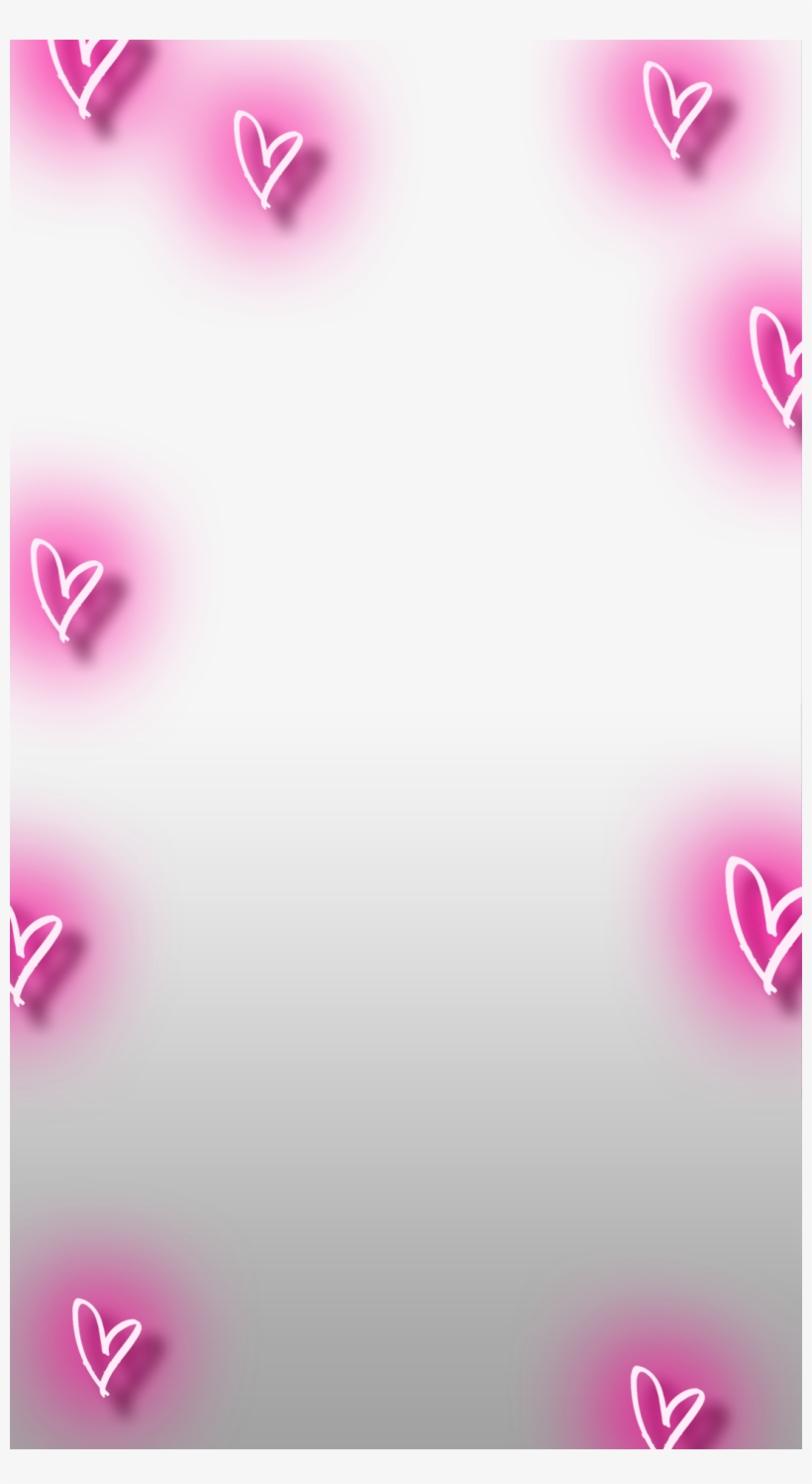 Neon Hearts Snapchat Heart Filter Png Free Transparent Png Download Pngkey