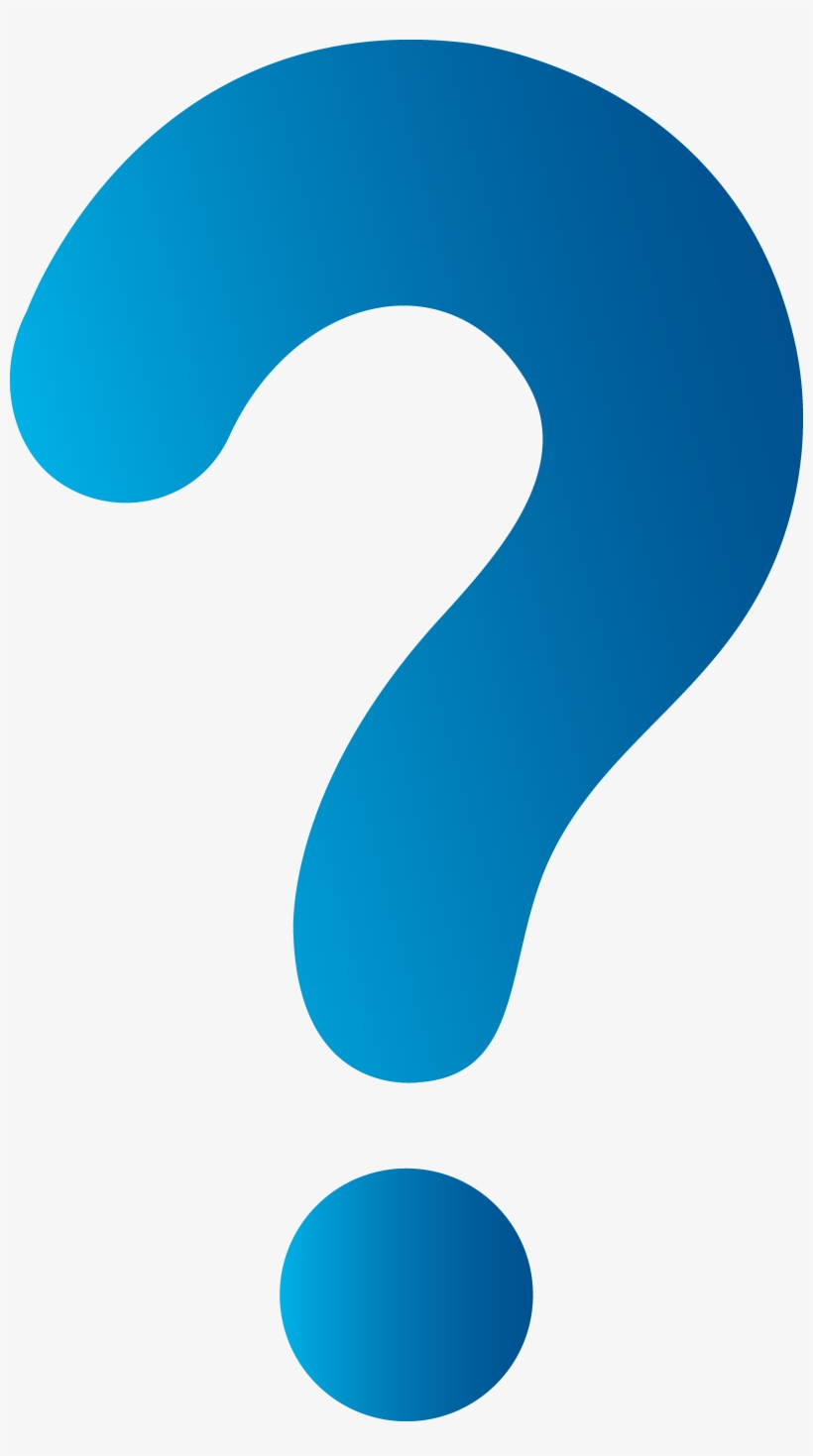 Question Mark Png - Blue Question Mark, transparent png #125599
