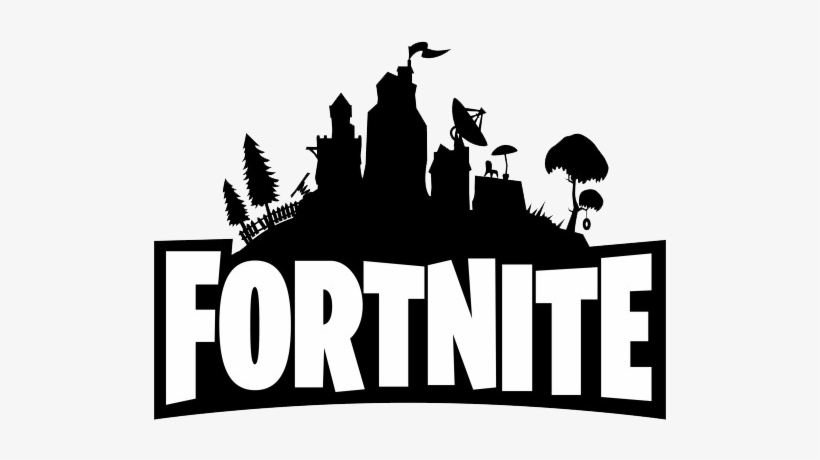 Fortnite Logo Png - Fortnite Black And White, transparent png #126254