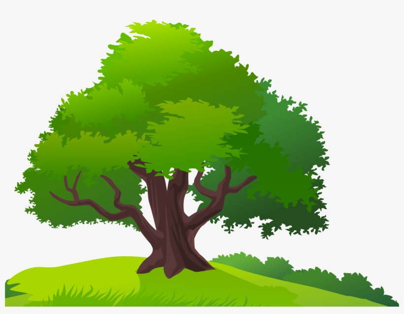 Landscape Clipart Tree Png Trees And Grass Clipart Free