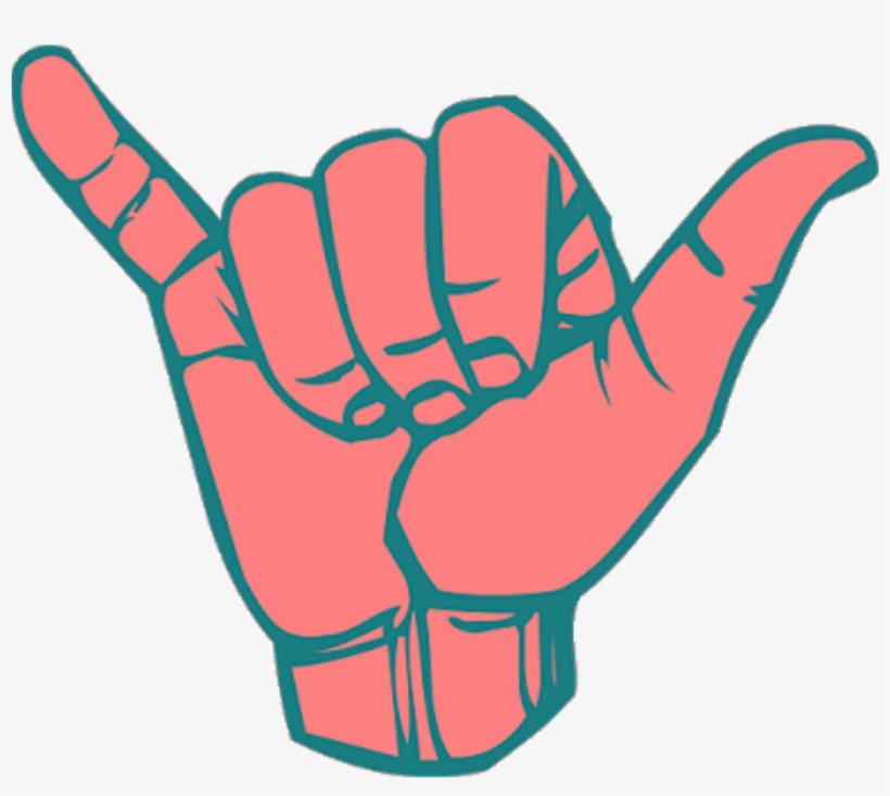 Hand Mano Tumblr Popart Freeuse - Call Hand Sign, transparent png #126703