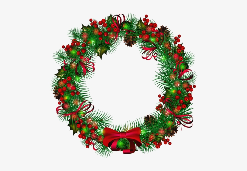 Png Trees Wreaths - Transparent Background Christmas Wreath Clipart, transparent png #126934