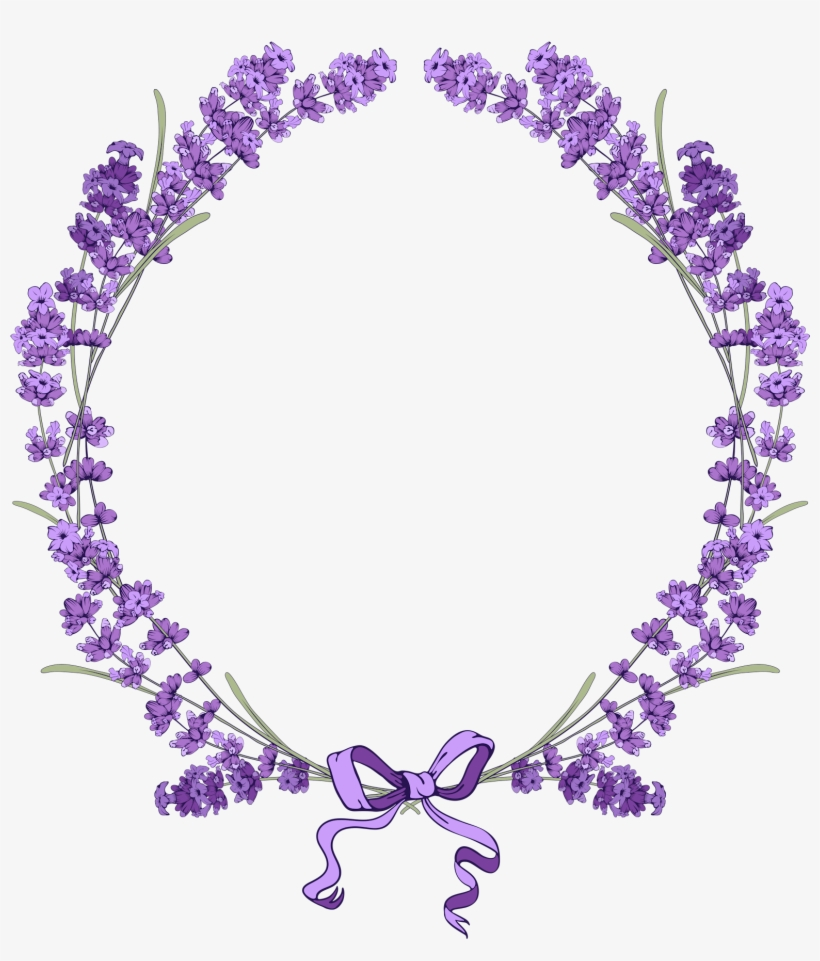 Graphic Library Stock Pin By On Pinterest Bullet Bujo - Lavender Flower Frame Png, transparent png #126935