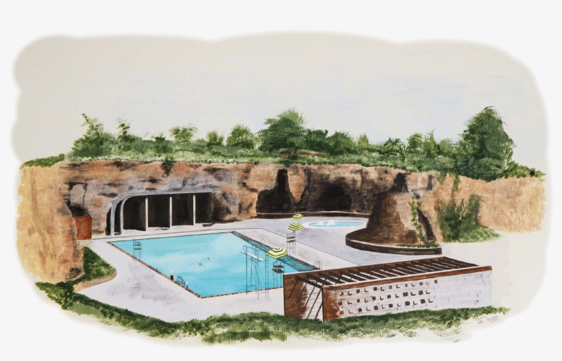 Roesland School Roeland Park Pool - Roeland Park Pool Caves, transparent png #127057