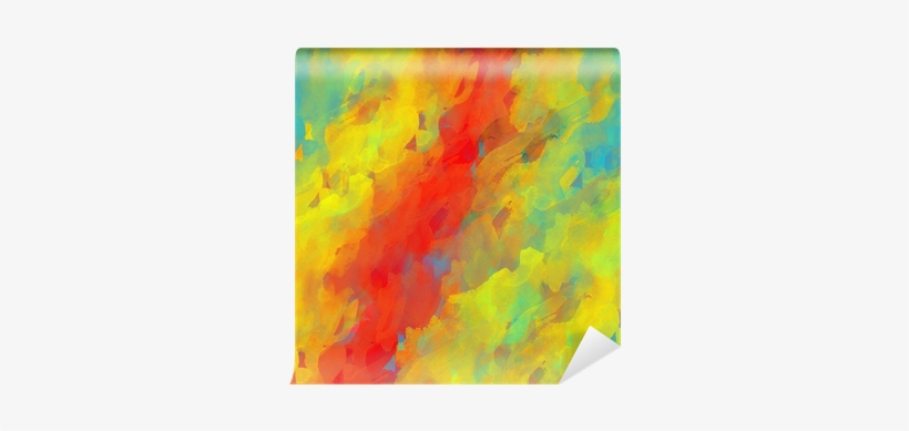 Abstract Colorful Grunge Art Watercolor Hand Paint - Painting, transparent png #127219