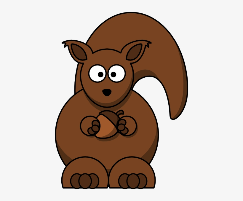 Cartoon Squirrel Clipper - Squirrel Clipart Transparent Background, transparent png #127374