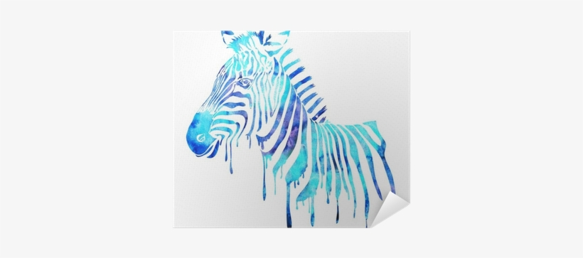 Watercolor Zebra Head - Watercolor Animals Abstract, transparent png #128487
