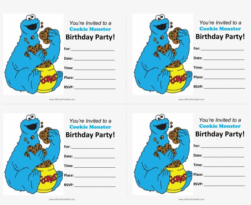 Cookie Monster Birthday Invitations Main Image